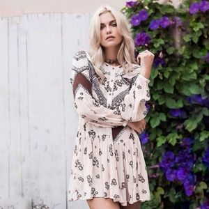 Free People From Your Heart Print Mini Dress Smock